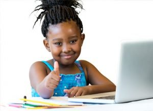 Pre-K Student with Computer