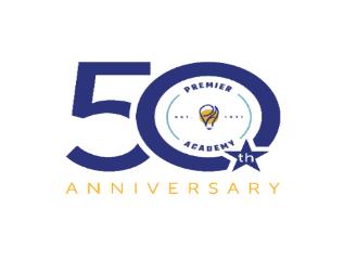 50th Year Logo - Premier Academy